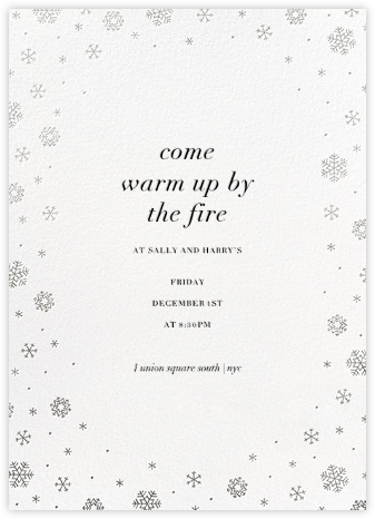White Out (Tall) - White/Silver - Paperless Post - Winter Party Invitations