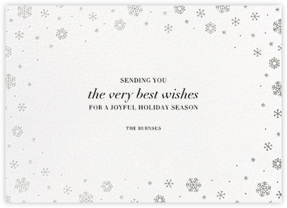 White Out (Horizontal) - Silver - Paperless Post - Holiday cards