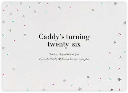 Starfetti - Silver - Paperless Post - Adult Birthday Invitations