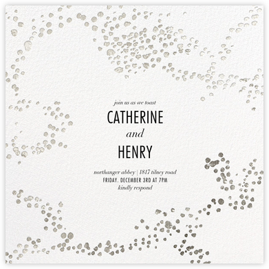 Evoke (Square) - White/Silver - Kelly Wearstler - Engagement party invitations