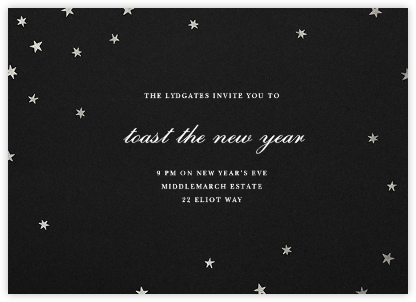 Nightly - Black/Silver - Paperless Post - New Year's Eve Invitations