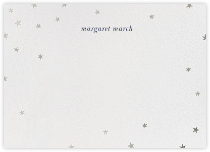 Nightly - White/Silver - Paperless Post - Personalized Stationery