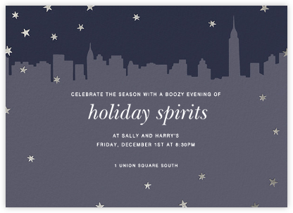 Chrysler Skyline - Silver - Paperless Post - New Year's Eve Invitations