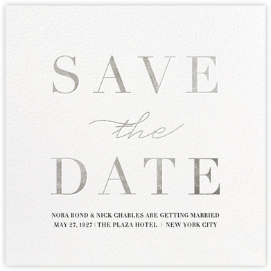 Remnant - Silver - Paperless Post - Save the dates