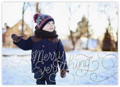 Merry Everything - Silver - Paperless Post -