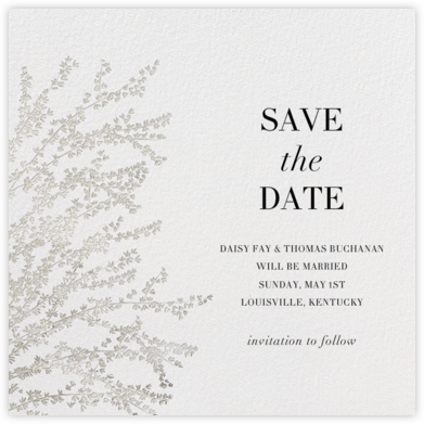 Forsythia - Silver - Paperless Post - Save the dates