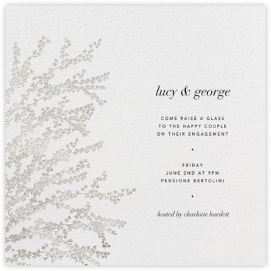 Forsythia - Silver - Paperless Post - Engagement party invitations