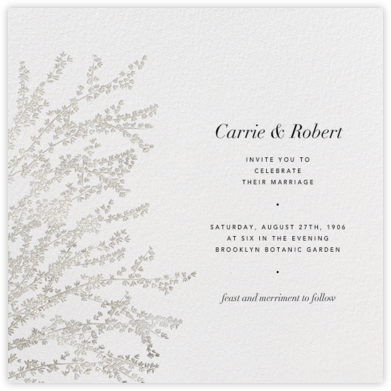 Forsythia - Silver - Paperless Post - Rustic wedding invitations