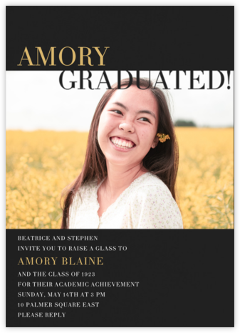 Graduated! - Black - Paperless Post -