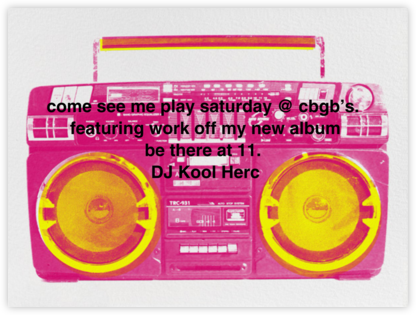 Brixton Briefcase - Pink - Paperless Post - 80s Theme Party Invitations