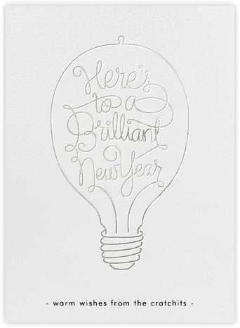 Brilliant New Year - Silver - Paperless Post -