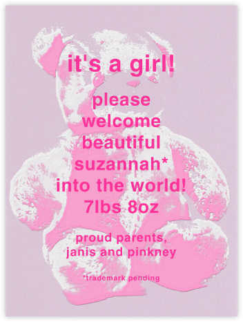 One Glam Teddy  - Pink - Paperless Post -
