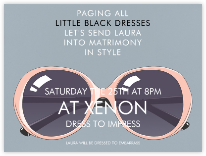 Dade Shades - Paperless Post - Bachelorette Party Invitations