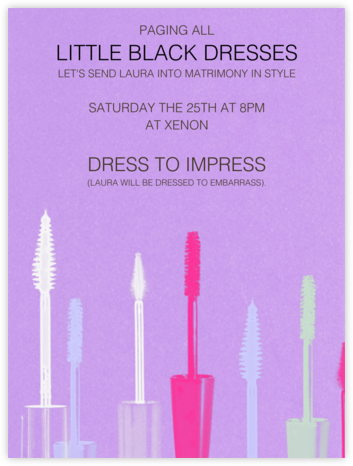 Maybe She's Born with It - Paperless Post - Bachelorette Party Invitations