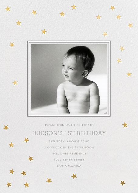Starry First Birthday - Sugar Paper - Kids' birthday invitations