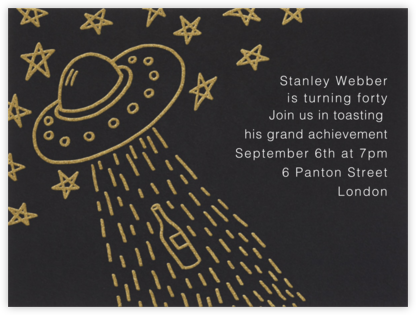 Beam Me Up Shottie - Paperless Post - Adult Birthday Invitations