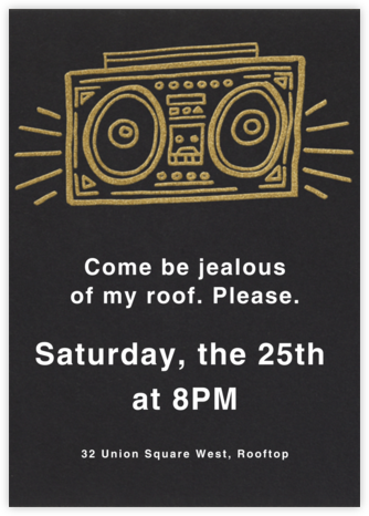 Radiant Boom Box - Paperless Post - Summer entertaining invitations