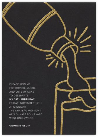 Shake N Roll - Gold - Paperless Post - Adult birthday invitations