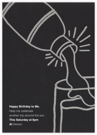 Shake N Roll - Silver - Paperless Post - Adult Birthday Invitations