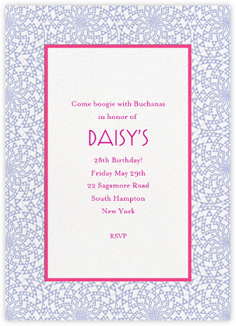 Deco Border - Magenta Pale Blue - Paperless Post -