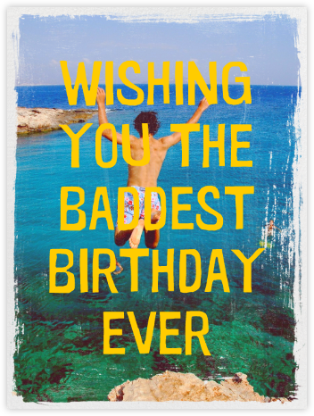 Grunge Border - Paperless Post - Birthday Cards for Him