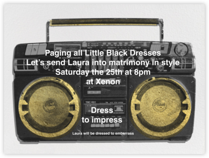 Brixton Brief Case  - Black - Paperless Post - Bachelorette party invitations