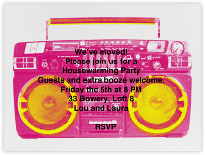 Brixton Brief Case - Pink - Paperless Post - Celebration invitations