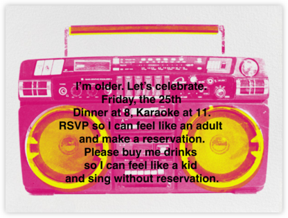 Brixton Brief Case - Pink - Paperless Post - Adult Birthday Invitations