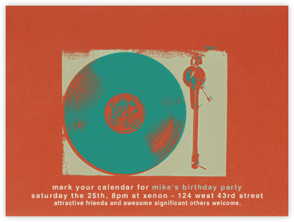 Vinyl - Paperless Post - Adult Birthday Invitations