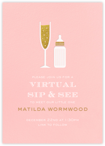 Sip & See - Pavlova - Paperless Post - Baby Shower Invitations