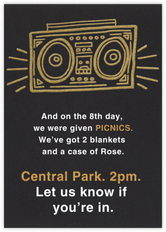Radiant Boom Box - Paperless Post - Invitations