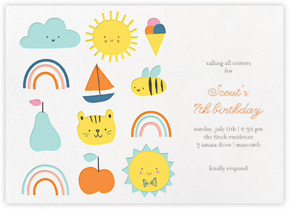 Party Weather (Invitation) - Little Cube -