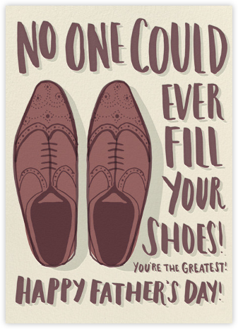 Big Shoes - Hello!Lucky - Father's Day Cards