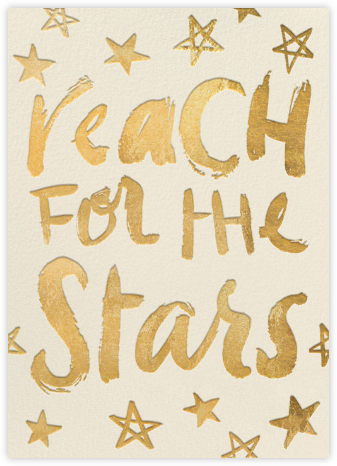 Reach for the Stars - Gold (Greeting) | tall