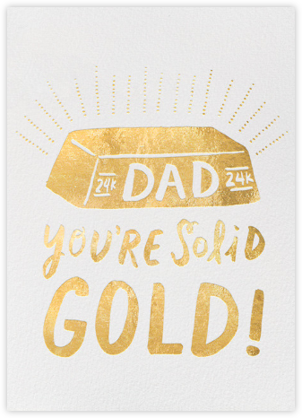 Solid Gold Dad - Hello!Lucky - Father's Day Cards
