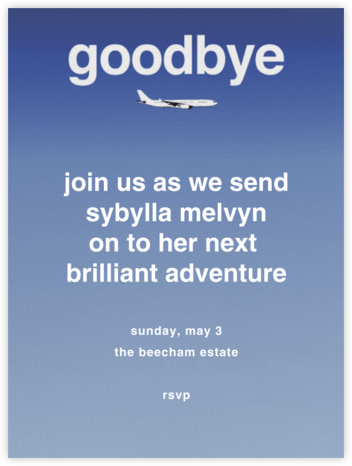 Goodbye Plane - Paperless Post - Farewell party invitations