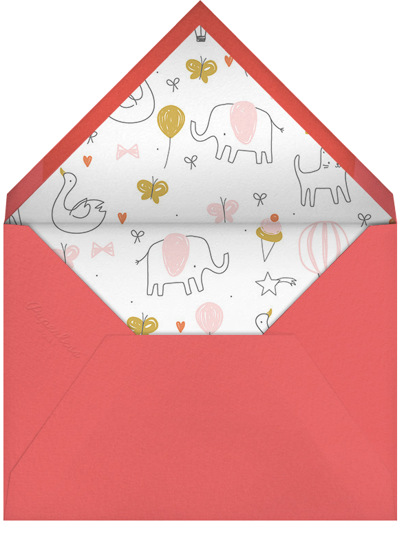 Balloon Parade - Little Cube - Baby shower - envelope back