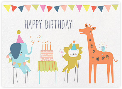 Jungle Birthday Bash (Greeting) - Little Cube - Birthday Cards for Her