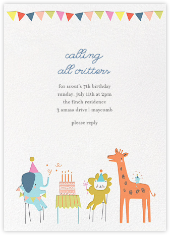 invitation bday card
