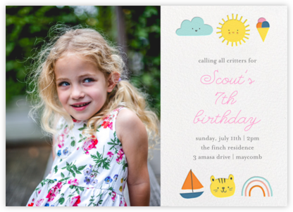 Party Weather (Photo) - Little Cube - Online Kids' Birthday Invitations