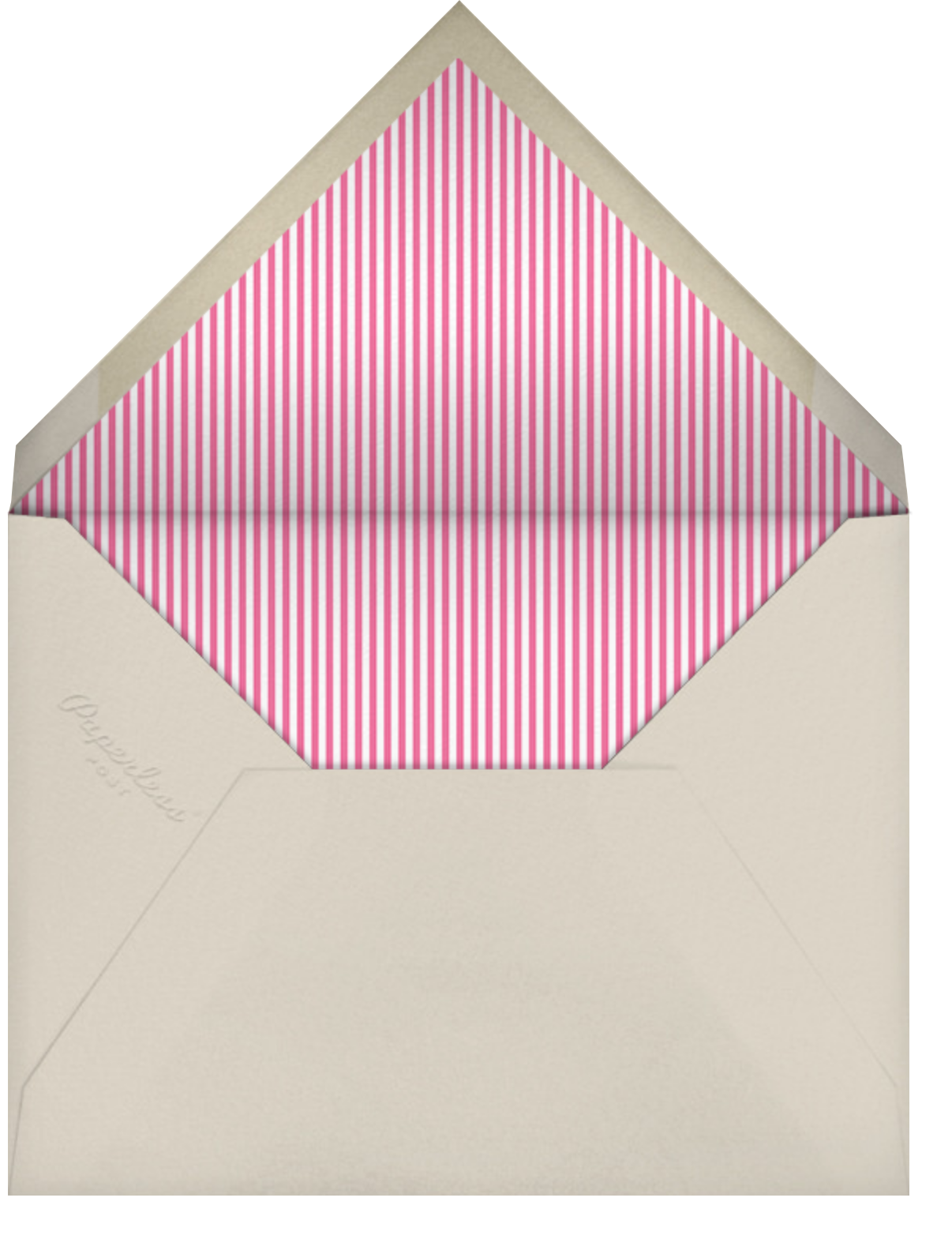 Ring Around the Daisy - Pink - Little Cube - Woodland baby shower invitations - envelope back