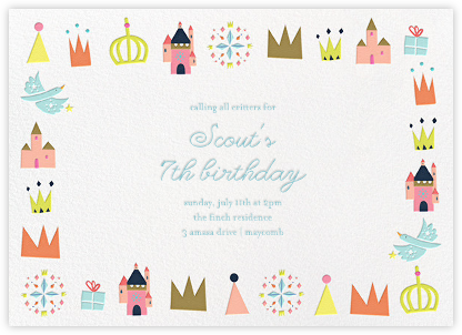 Royal Party - Little Cube - First Birthday Invitations