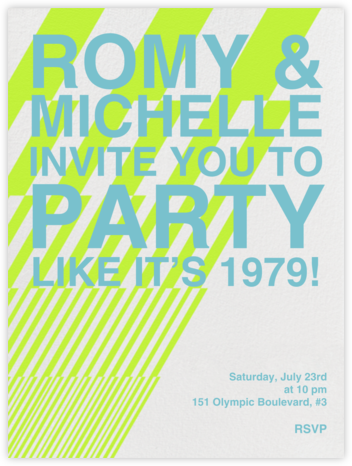 Lightening Decals - Bright Green - Paperless Post - Pool Party Invitations