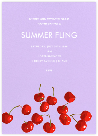 Bing Cherries - Hannah Berman - Summer entertaining invitations