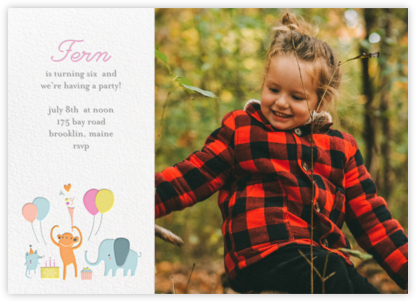 Sweet Treats for Allie (Photo) - Little Cube - Birthday invitations