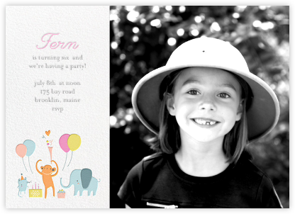 Sweet Treats for Allie (Photo) - Little Cube - Kids' birthday invitations