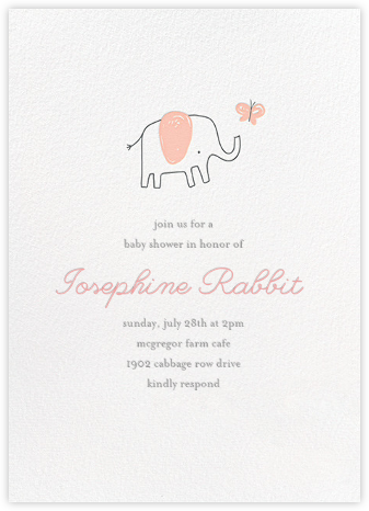 The Chase - Pink - Little Cube - Elephant Baby Shower Invitations