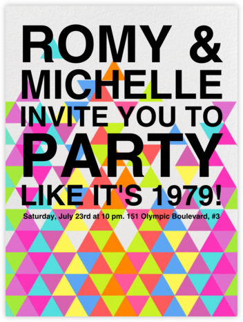 Kaleidoscope - Pink - Paperless Post - Pool Party Invitations