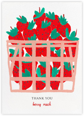 Basket of Berries - Mr. Boddington's Studio - Online Thank You Cards