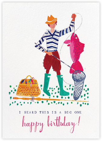A Big Mackerel - Fair - Mr. Boddington's Studio - Birthday Cards